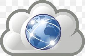 Internet Blue Cliparts - Internet Cloud Computing Clip Art PNG
