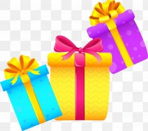 Three Cartoon Gift Boxes PNG