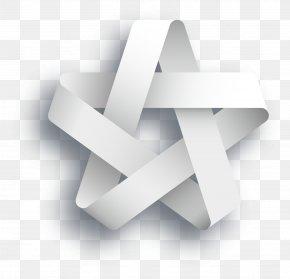 Vector Origami Pentagram - Illustration PNG