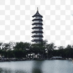 Black And White West Lake Lei Tower Free Pictures - Leifeng Pagoda West Lake Black And White PNG