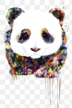 Panda - Giant Panda Drawing Digital Art Watercolor Painting PNG