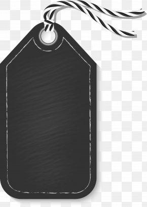 Black Simple Rope Tag - Black Computer File PNG