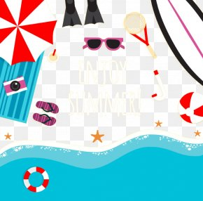 Summer Beach - Summer Illustration PNG