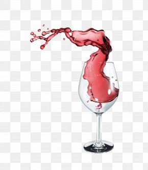 Spilled Red Wine - Red Wine Wine Glass Computer File PNG