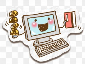 Computer Illustration - Computer Keyboard Cartoon Drawing PNG