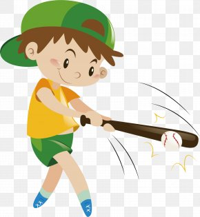Play Baseball Boy - Baseball Vecteur PNG