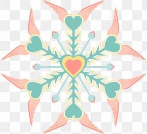 Snowflakes - Light Snowflake Color Clip Art PNG