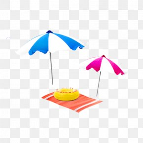 Summer Theme,Summer Promotion,Icy Summer,Blue Sky,Baiyun,sunlight,hot Air Balloon,Spray,Starlight,starfish,glacier,seawater - Umbrella Cdr Clip Art PNG