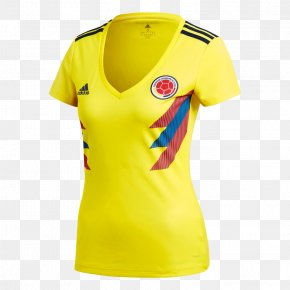 T-shirt - Colombia National Football Team 2018 FIFA World Cup T-shirt Jersey Adidas PNG