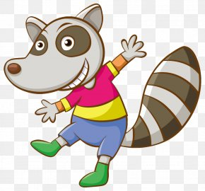Raccoon - Raccoon Cartoon Character Clip Art PNG