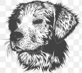 Vector Painted Dogs Avatar - Golden Retriever Puppy Dog Training Pet Veterinarian PNG