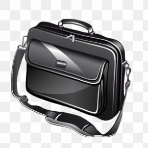 Black Computer Bag Renderings - Laptop Computer Mouse Icon PNG