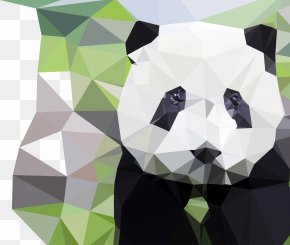 Vector Crystal Panda Removable Material Is More Than One Per - Giant Panda Bear Geometry Polygon PNG