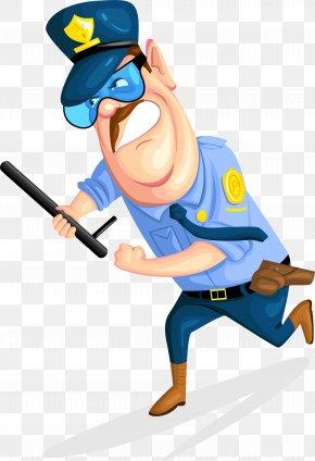 Batons, Security Guards - Cartoon Security Guard Police Officer PNG