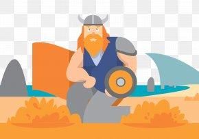 At The Beach Patrol Viking Warrior - Euclidean Vector Illustration PNG