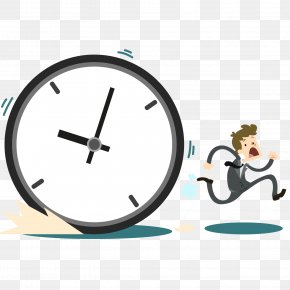 Count The Business Man To Catch The Clock - Time Limit Time Management Task Productivity PNG