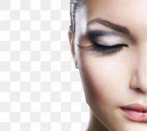 Women's Eyelashes Close-up - Mascara Cosmetics Eyelash Extensions Beauty Parlour PNG