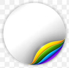 Notes Sticker - Sticker Circle Adhesive PNG