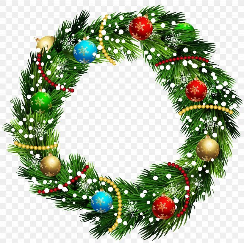 Wreath Christmas Ornament Clip Art, PNG, 5000x4975px, Deco Hogar, Christmas, Christmas Decoration, Christmas Ornament, Conifer Download Free
