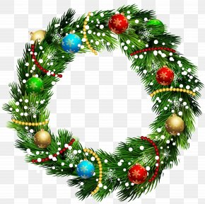 Christmas Wreath Clip Art Image - Wreath Christmas Ornament Clip Art PNG