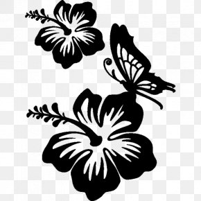 Hawaii Flower - Butterfly Wall Decal Sticker Flower PNG