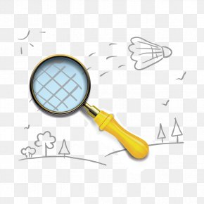 Magnifying Glass And Hand-painted Patterns - Magnifying Glass Euclidean Vector Clip Art PNG
