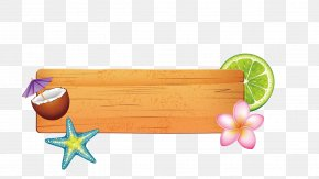 Vector Painted Wood - Summer Poster PNG