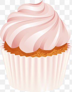 Pink Ice Cream - Cupcake Muffin Chocolate Cake Birthday Cake Icing PNG