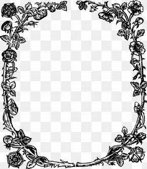 Rose Frame - England Tudor Period Public Domain Clip Art PNG