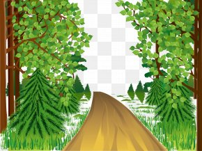 Beautiful Mountain Road - Drawing Landscape Spring Art Museum PNG