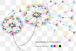Color Dandelion - CMYK Color Model Euclidean Vector RGB Color Model PNG
