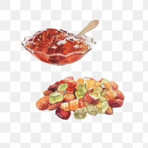Sugar And Fruit Puree Hand Painting Material Picture - Waffle Gummi Candy Fruit Preserves Sugar PNG