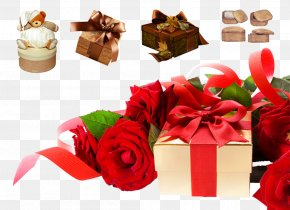 Roses And Gift Boxes - July Idea Month Message PNG