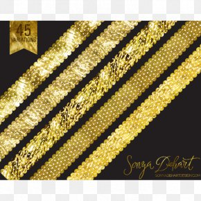 Glitter Line Cliparts - Gold Glitter Clip Art PNG