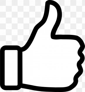 Thumb Up - Thumb Signal Outline Clip Art PNG