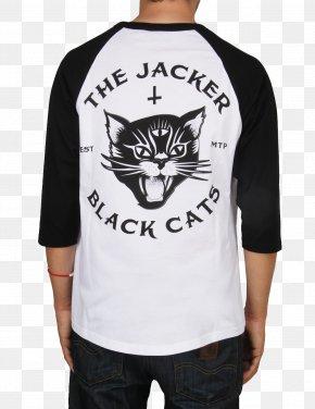 T-shirt - T-shirt Black Cat Jacker Workshop Jacket PNG