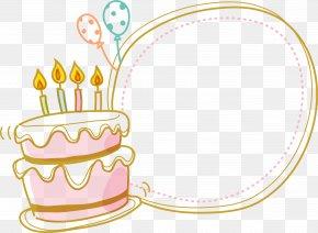 Cake Border - Birthday Cake PNG