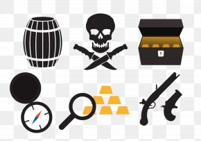 Vector Pirates Elements - Piracy Jolly Roger Icon PNG
