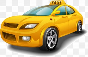 Yellow Car - Taxi Amritsar Careem Bus Uber PNG