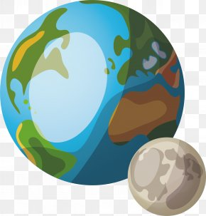 Two Planets - Earth Cartoon Planet PNG