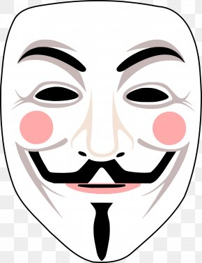 Anonymous Mask - Gunpowder Plot Guy Fawkes Mask Anonymous V For Vendetta PNG