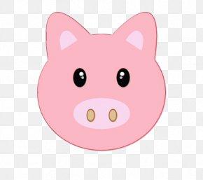 Button Livestock - Pink Cartoon Nose Head Snout PNG
