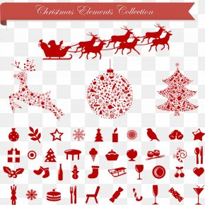 Christmas Red Paper-cut - Christmas Tree Clip Art PNG