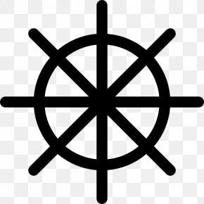 Helm - Ship's Wheel Anchor Clip Art PNG