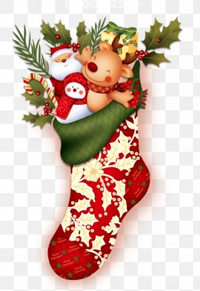Christmas Stocking - Christmas Stocking Santa Claus Hosiery PNG