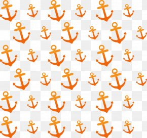 Anchor Orange Background - Anchor Euclidean Vector Clip Art PNG