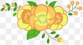 Flower Fruit - Green Leaf Background PNG