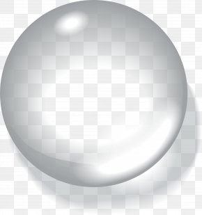 White Bead Circle - White Drop Sphere PNG