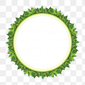 Green Leaf Pattern - Circle Fertilizer Clip Art PNG