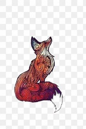Fox - Sticker Fox Drawing T-shirt PNG
